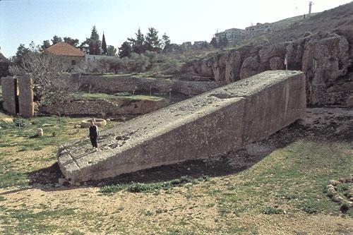 Basamento en Baalbek