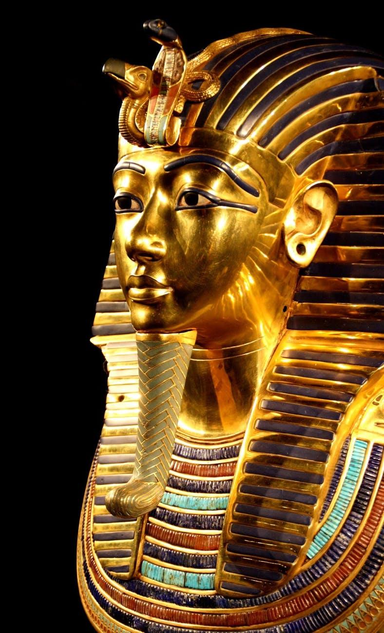 egypt tutankhamun death mask pharaonic